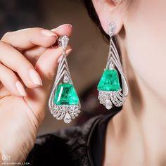 Amrapali Jewels. Via KATERINA PEREZ (@katerina_perez) on Instagram: These new Amrapali @amrapalijewels earrings with emeralds and diamonds are luxury at its finest. Photo by Simon Martner.