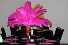 Feather bouquet as centerpieces