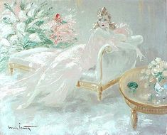 Louis Icart Two Beauties | Louis Icart, Jour de Fète