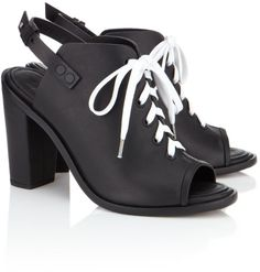 03db7014cad5 Love this  RAG  amp  BONE Black Leather Trafford Heel  Lyst Thick Heels  Pumps