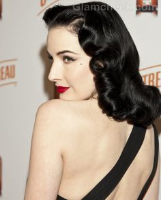 Dita Von Teese Hairstyle Hairstyle Hair glamour featured Dita Von Teese Hairstyle Dark Hair....love the make-up on this and the pose