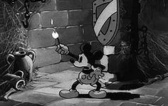 my gif gif mine mickey mouse vintage disney vintage mickey mouse Disneyedit thru the mirror mickeymouseedit mickey mouse* Halloween Tumblr, Halloween Gif, Vintage Halloween, Halloween Skeletons, Disney Halloween, Looney Tunes Cartoons, Cartoons Love, Disney Cartoons, Walt Disney