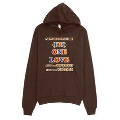 1414-H ... NEW HAMPSHIRE ... Area Code 603 ... ONE LOVE ... HOODIE