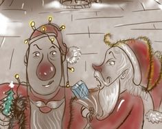 Christmas story for kids. When a wicked Santa and nasty Rudolph steal all the town's presents it's up to the Witch of Ballyyahoo to save Christmas. Christmas Stories For Kids, A Christmas Story, Ireland, Witch, Presents, Santa, Children, Drawings, Illustration
