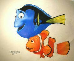 Drawing Nemo & Dory