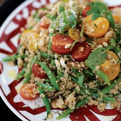 ... almonds and crisp green beans is a wonderful alternative to rice. More