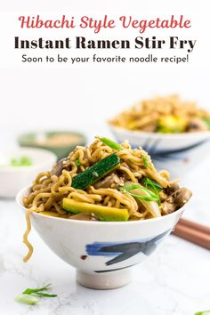 What's for lunch? How about buttery and garlicky hibachi vegetable instant ramen stir fry?! And this is going to be your favorite stir fry noodle dish! Perfectly delicious and easy to make! #hibachivegetable #ramenstirfry #hibachiramenstirfry #vegannoodle #hibachinoodle Vegan Entree Recipes, Asian Recipes, Healthy Recipes, Ethnic Recipes, Asian Stir Fry, Entrees, Stuffed Peppers, Vegetables, Food