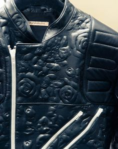Etched leather? White zippers? Yes please, Chris Kane!