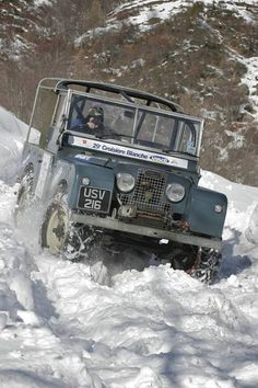 Land Rover...This is winter fun on four wheels
