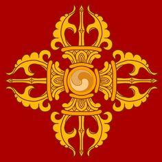 Vajra (Sanskrit, meaning both 'thunderbolt' and 'diamond') Buddhist Symbol Tattoos, Buddhism Symbols, Ancient Symbols, Hindu Tattoos, Ancient Aliens, Tibetan Mandala, Tibetan Art, Tibetan Buddhism, Buddhist Wisdom