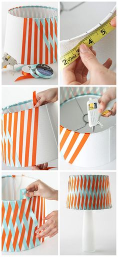 Nook And Nest - Affordable Interior Decorating and Home Staging - Blog - DIY Ribbon Lampshade