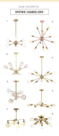 Sputnik Chandelier, Midcentury Modern, New Art, Interior Decorating, Sweet Home, Art Deco, Mid Century, Ceiling Lights, Lighting