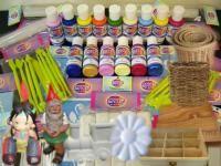 Productos de libreria materiales para artesanias. Venta productos de mimbre materiales para talleres.