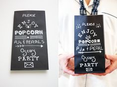 Vintage Popcorn Bag tutorial - time consuming but cute Popcorn Bar, Hollywood Style, Oscar Party, Printed Bags, Oscars, 21st, Flower Arrangements, Wrapping, Wedding Day