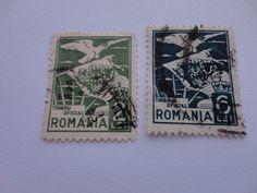 2 Lei, 6 Lei Great Old Romania Postage Stamp.