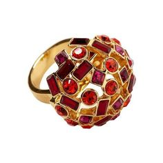 Kate Spade New York Kaleidoball Dome Ring ($68) ❤ liked on Polyvore