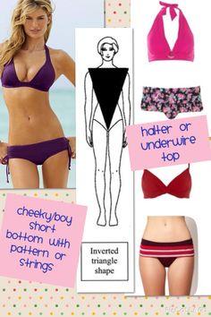 Inverted triangle or A body shape bikinis More