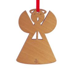 "Amazon.com - Advent Ornaments ""ANGEL"", Laser Cut Wood Christmas Tree Ornament"