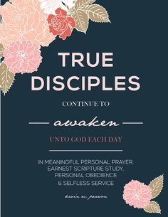 2015 LDS General Conference printables: Kevin W. Pearson, True Disciples