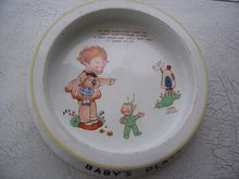 Vintage Mabel Lucy Atwell Baby Plate, Rag Doll, Fairy,Shelley