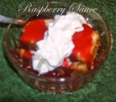 In Cindy's Kitchen: Raspberry Sauce: A simply easy sauce made with frozen raspberries.