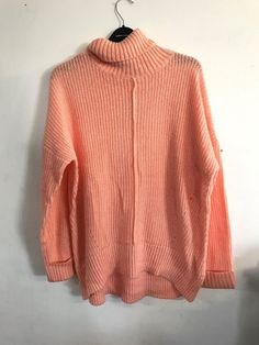 Ex M/&S Collection Soft Cowl Neck Jumper Sweater Fine Knit Soft Coral Small Only!