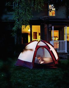 Forgo that camping trip to spend the night in a tent that's closer to home.