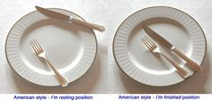 Table Etiquette: Two Different Styles of Eating. The American Style of Eating vs The Continental Style of Eating and Table Etiquette for Both Styles. Dinning Etiquette, Tea Etiquette, Etiquette And Manners, Table Manners, Cooking Tools, Kid Cooking, High Tea, Different Styles, A Table