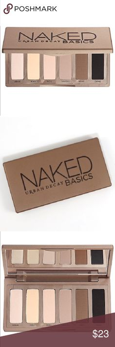 NEW URBAN DECAY NAKED BASICS NEW NEVR USED URBAN DECAY NEUTRAL MATTE PALETTE WITH 4 NEW COLORS NEVER SEEN BEFORE SHADES! LAST PIC GIVES ALL THE INFO THAT I DON'T HAVE ROOM FOR 😉 CLEANING OUT WHAT MY 2 DAUGHTERS HAVEN'T USED EACH COLOR IS       .05OZ Urban Decay Makeup Eyeshadow