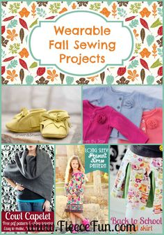 There are so many wonderful (and FREE) sewing patterns to make this season. I love all these wonderful ideas for fall sewing! Fall Sewing Projects, Sewing Projects For Beginners, Sewing Tutorials, Sewing Crafts, Sewing Tips, Sewing Ideas, Fleece Patterns, Sewing Patterns Free, Free Sewing