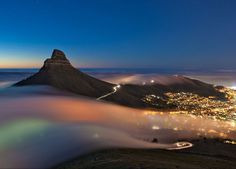 national geographic announces photo winners 2013outdoor scenes category : cape town fog  image courtesy of national geographic and eric nathan