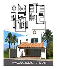 Dise os de casas con fachadas y plantas arquitect nicas - Disenos de casas de dos plantas ...