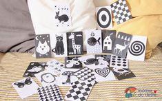 Černobílé kontrastní kartičky pro novorozence online + PDF zdarma | Mamadodeste.cz Baby Shop, Gift Wrapping, Gifts, Shopping, Gift Wrapping Paper, Presents, Wrapping Gifts, Favors, Gift Packaging