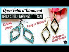 earrings tutorial / earrings tutorial earrings tutorial how to make earrings tutorial beaded Beaded Earrings Patterns, Seed Bead Earrings, Beading Patterns, Seed Beads, Beading Tutorials, Perler Beads, Diamond Earrings, Triangle Earrings, Beading Ideas