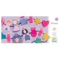 Perles princesse en bois Djeco pour enfant de 2 ans à 6 ans - Oxybul éveil et jeux