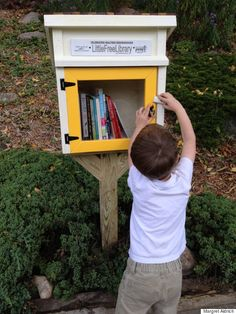 Article about the little free libraries project... Someday I'll have a place to call home for real and I will put up a little free library of my own...