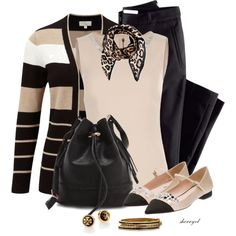 A fashion look from March 2015 featuring CC cardigans, Dolce&Gabbana tops and H&M pants. Browse and shop related looks.