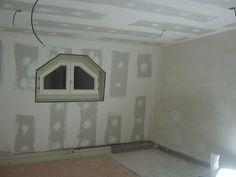 afwerken van mansardekamer met #pleister en #gyproc