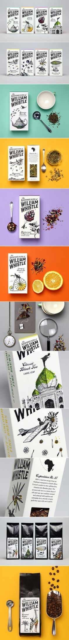 Unique packaging design. William Whistle.
