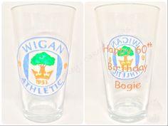 Wigan Athletic pint glass x