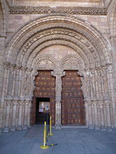 Romanesque west door of San Vicente, Avila