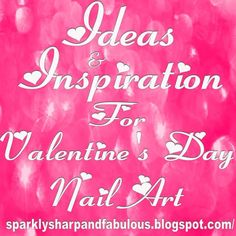Nail Art Ideas for Valentine's Day It's that time again! This is another one of my continuously updated, nail art ideas and inspiration posts! I keep adding links as I find them, or as my lovely re… Creative Nail Designs, Creative Nails, Nail Art Designs, Different Types Of Nails, Different Nail Designs, Glam Nails, Nail Manicure, Mani Pedi, Seasonal Nails