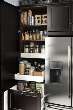 Plenty of storage in your cabinets helps to keep the clutter at bay! IKEA SEKTION kitchen cabinets are designed to help keep you organized and keep everything in its place.