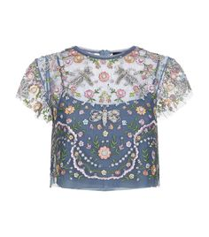 Needle & Thread Dragonfly Embroidered Top | Harrods.com