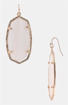 mother of pearl earrings // kendra scott