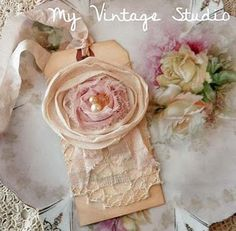 pretty tag! Vintage, Shabby, Rose #tag #scrapbooking #crafts