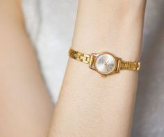 Gorgeous women's watch bracelet Glory  gold plated tiny by 4Rooms