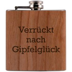 Beste Mama, Berg, Flask, Barware, Etsy Shop, Hiking, Stainless Steel, Handmade, Timber Wood