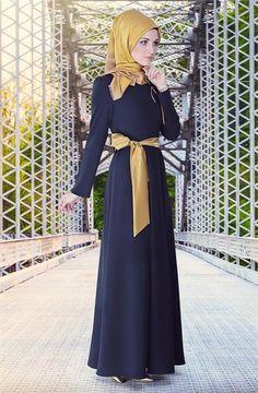 Butik Simge Elbise - Lacivert 3776-17
