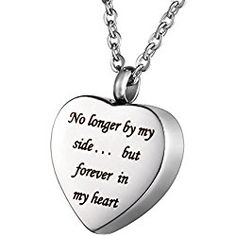Valyria Cremation Jewelry Retro Cross Heart Urn Pendant Necklace Memorial Ash Keepsake with Personalized Engraving